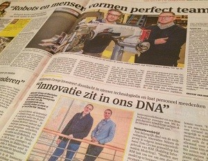 Gazet van Antwerpen: Robot and people form the perfect team